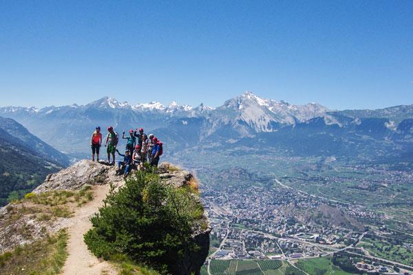 Denk Kletterausrüstung : Familien klettersteig urlaub im sportclub in der schweiz