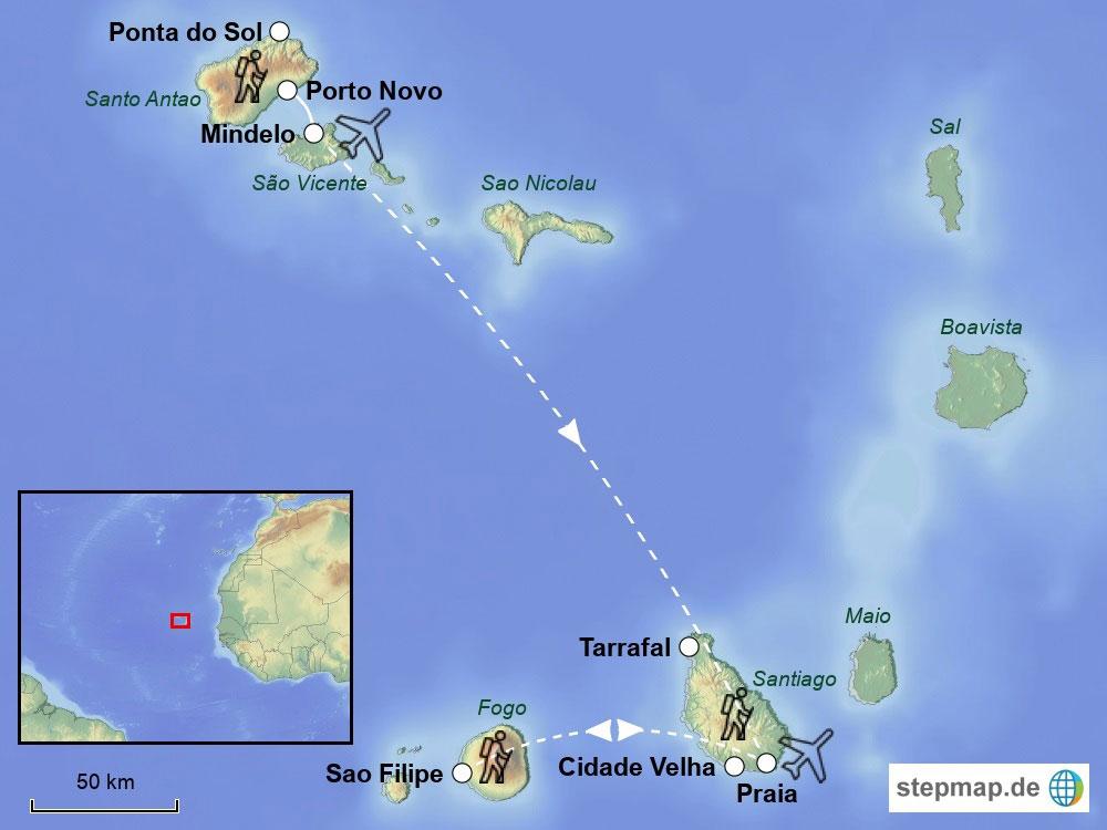 Wo Liegt Kapverden Karte.Wanderreise Kapverden Inselträume Im Atlantik Frosch Sportreisen