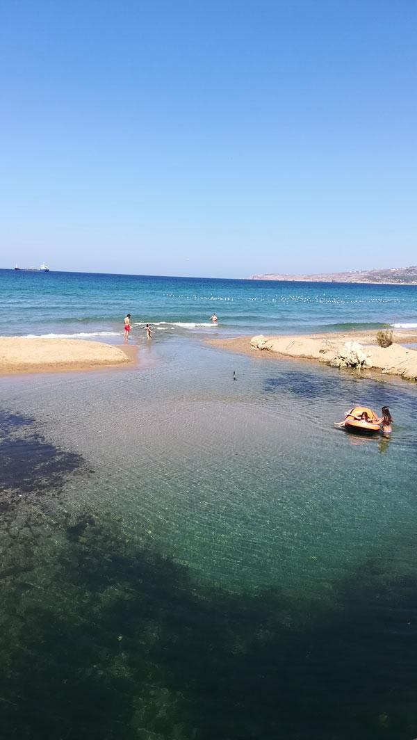 Kreta Im Juli 2018 Mutter Mit Jugendlichem