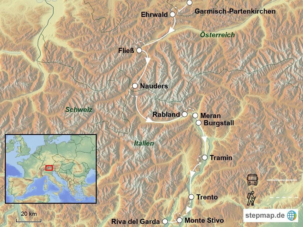 Frosch Trekkingreise Transalp Zugspitze Gardasee